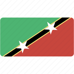 and, country, flag, flags, kitts, national, nevis, rectangle, rectangular, saint, world icon