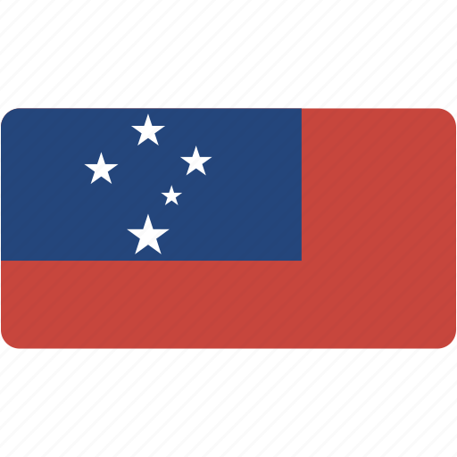 country, flag, flags, national, rectangle, rectangular, samoa, world icon
