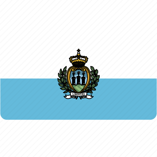 country, flag, flags, marino, national, rectangle, rectangular, san, world icon