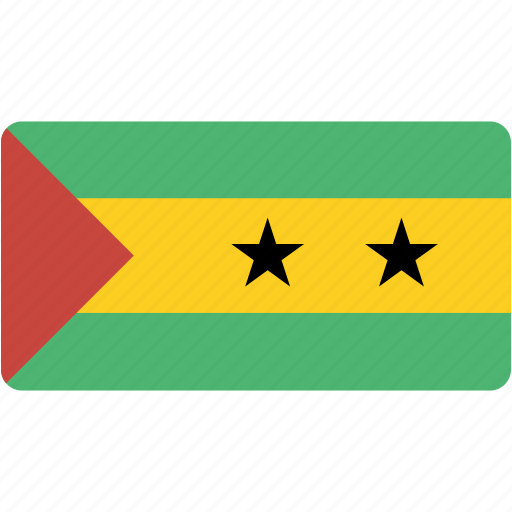 and, country, flag, flags, national, principe, rectangle, rectangular, sao, tome icon