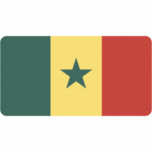 country, flag, flags, national, rectangle, rectangular, senegal, world icon