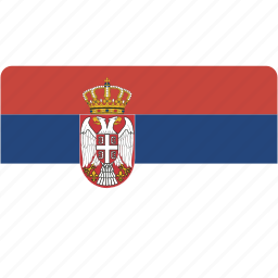 country, flag, flags, national, rectangle, rectangular, serbia, world icon