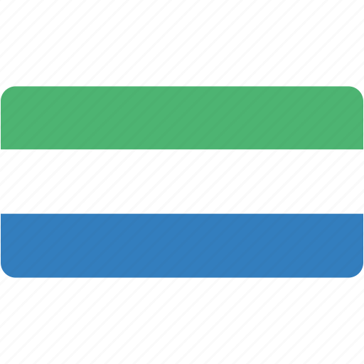 country, flag, flags, leone, national, rectangle, rectangular, sierra, world icon