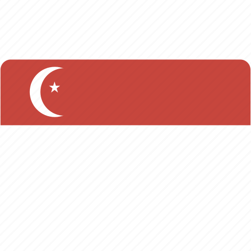 country, flag, flags, national, rectangle, rectangular, singapore, world icon