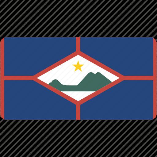 country, eustatius, flag, flags, national, rectangle, rectangular, sint, world icon