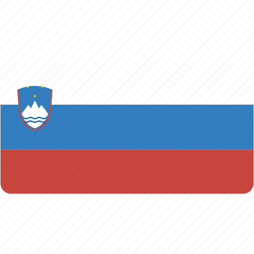country, flag, flags, national, rectangle, rectangular, slovenia, world icon