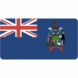country, flag, flags, georgia, national, rectangle, rectangular, south, world icon