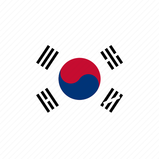 country, flag, flags, korea, national, rectangular, south, world icon