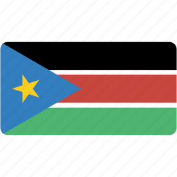 country, flag, flags, national, rectangle, rectangular, south, sudan, world icon