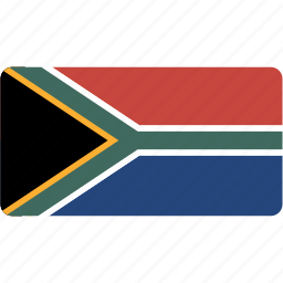 africa, country, flag, flags, national, rectangle, rectangular, south, world icon