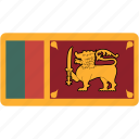 country, flag, flags, lanka, national, rectangle, rectangular, sri, world icon
