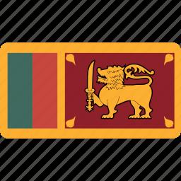 country, flag, flags, lanka, national, rectangle, rectangular, sri, world icon