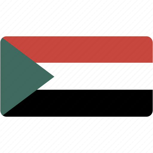 country, flag, flags, national, rectangle, rectangular, sudan, world icon