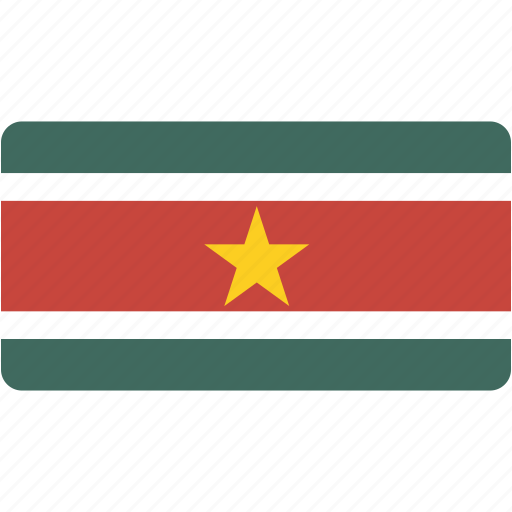 country, flag, flags, national, rectangle, rectangular, suriname, world icon