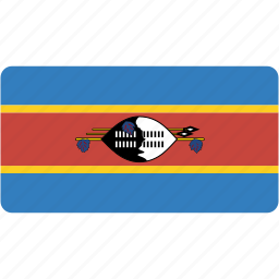 country, flag, flags, national, rectangle, rectangular, swaziland, world icon
