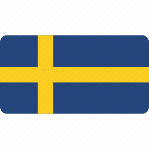 country, flag, flags, national, rectangular, sweden, world icon