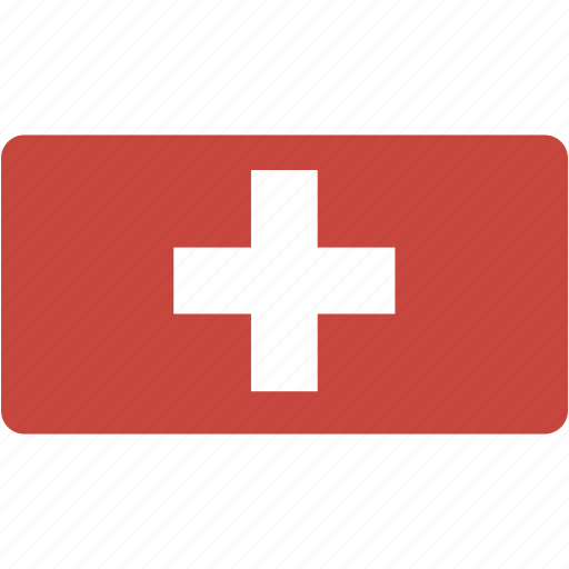 country, flag, flags, national, rectangle, rectangular, switzerland, world icon