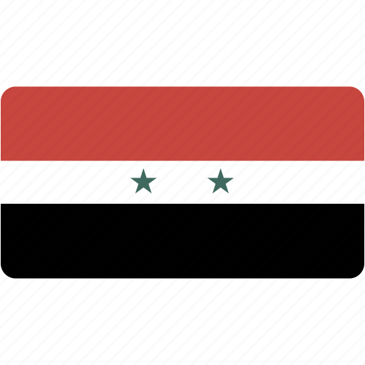 country, flag, flags, national, rectangle, rectangular, syria, world icon