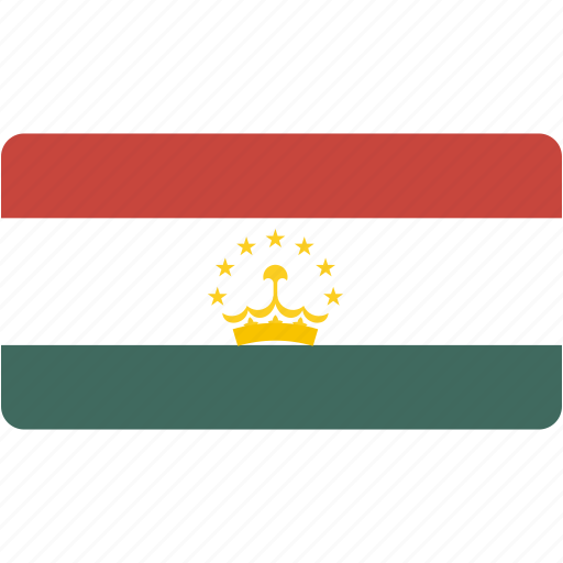 country, flag, flags, national, rectangle, rectangular, tajikistan, world icon