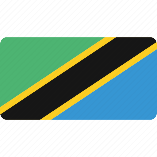 country, flag, flags, national, rectangle, rectangular, tanzania, world icon