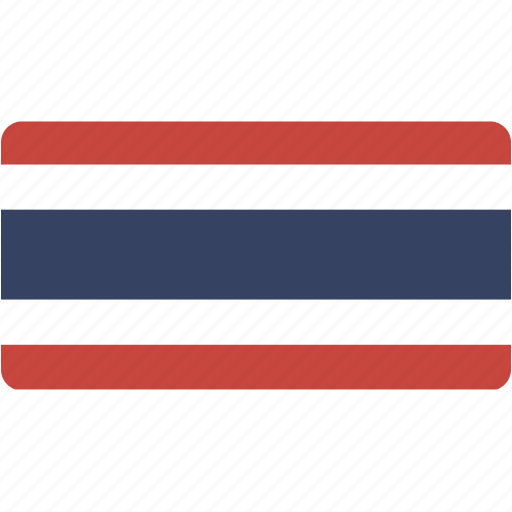 country, flag, flags, national, rectangle, rectangular, thailand, world icon