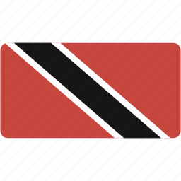 and, country, flag, flags, national, rectangle, rectangular, tobago, trinidad, world icon