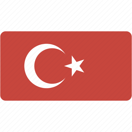 country, flag, flags, national, rectangle, rectangular, turkey, world icon