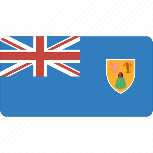 and, caicos, country, flag, flags, national, rectangle, rectangular, turks, world icon