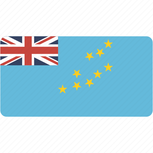 country, flag, flags, national, rectangle, rectangular, tuvalu, world icon