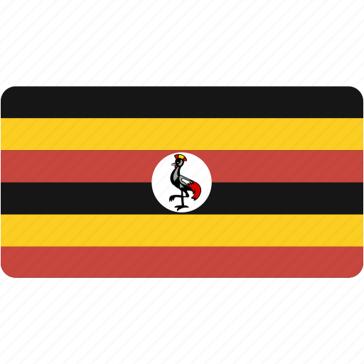 country, flag, flags, national, rectangle, rectangular, uganda, world icon