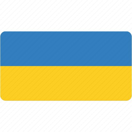 country, flag, flags, national, rectangular, ukraine, world icon