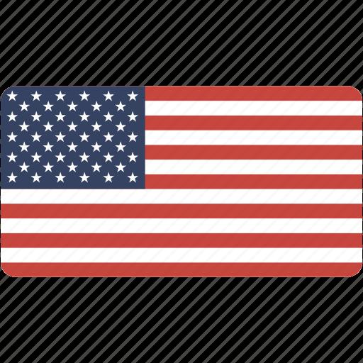 country, flag, flags, national, rectangle, rectangular, states, united, us, usa, world icon