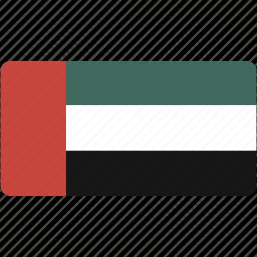 arab, emirates, flag, flags, national, rectangle, rectangular, united, world icon