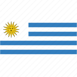 country, flag, flags, national, rectangle, rectangular, uruguay, world icon