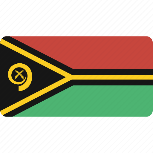country, flag, flags, national, rectangle, rectangular, vanuatu, world icon
