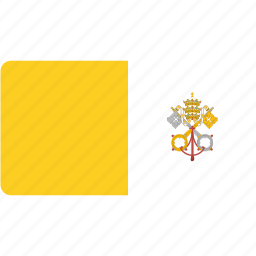 city, country, flag, flags, national, rectangle, rectangular, vatican, world icon