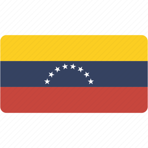 country, flag, flags, national, rectangle, rectangular, venezuela, world icon