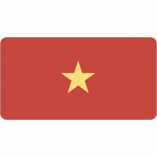 country, flag, flags, national, rectangle, rectangular, vietnam, world icon