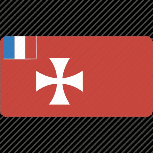 and, circular, country, flag, flags, futuna, national, rectangle, rectangular, wallis, world icon