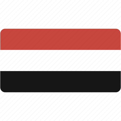 country, flag, flags, national, rectangle, rectangular, world, yemen icon