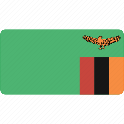 country, flag, flags, national, rectangle, rectangular, world, zambia icon