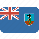 country, flag, montserrat, nation, rectangle, round icon
