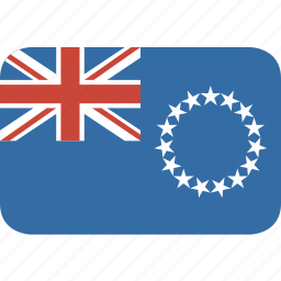 cook, country, flag, islands, nation, rectangle, round, the icon