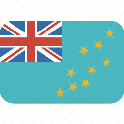 country, flag, nation, rectangle, round, tuvalu icon
