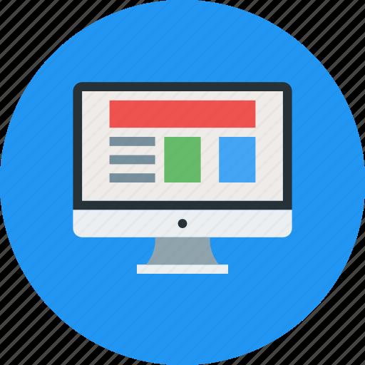 browser, desktop, mac, monitor, seo, window icon