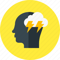 brainstorming, business, creative, head, idea, light icon