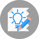 business, creative, idea, prototype, sketch icon