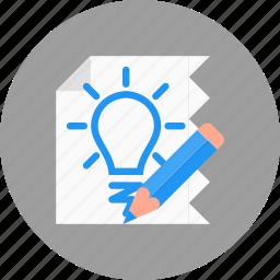 business, creative, idea, prototype, sketch icon