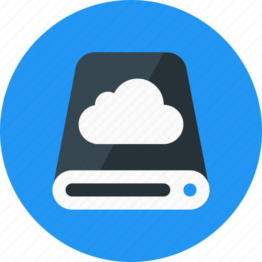 cloud, database, drive, hard disk, hdd, storage icon