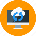 cloud, monitor, refresh, sync icon